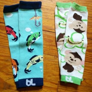 Monkey and fish baby legs legwarmers